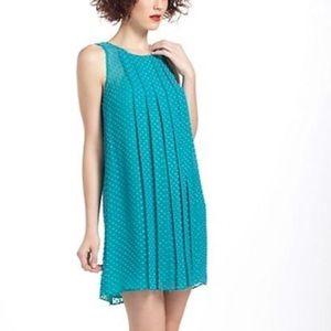 Anthropologie blue swiss dot dress